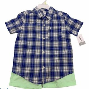 Carter's 2-Piece Plaid Button-Front & Canvas Set